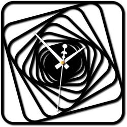 Stylesa - Wall clock Desing plexiglass HARBOR and black X0093