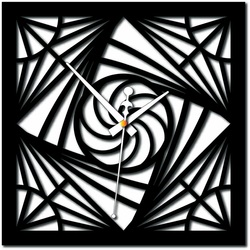 Stylesa - Modern wall clock mosaic plexiglass and black X0082