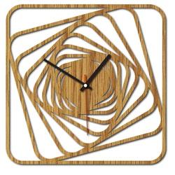 Sentop - MDF Modern wall clock GARVI HD F015 and black
