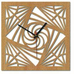 Sentop - MDF Wall clock for kitchen HDF16 and black