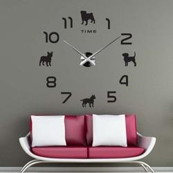Sentop - DIY Wall clock dog and black SZ069