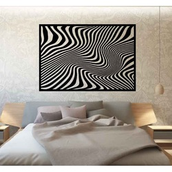 Sentop - Decorative painting on the wall of a zebra