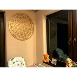 Wooden mandala as a painting on the wall decoration of plywood MANDALA