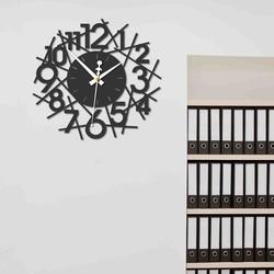 Sentop - Modern wall clock SAJFA PR0355 and black