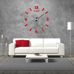 Modern wall clock. Mobiola red.