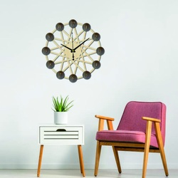 3D Plywood wall clock - back part Poplar original, color of the front part of the numbers of your choice PR0344 also black