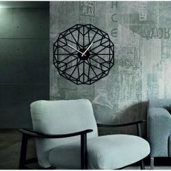 SENTOP - Wall clock geometric plexiglass TOMARR and black X0097