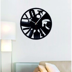 SENTOP - Modern wall clock for the OMARR salon and black X0098