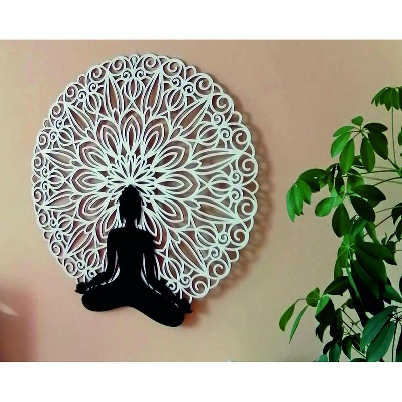 Sentop - Mandala 3D image on the wall of Buddha mandala color design