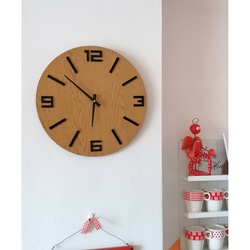 entop - MDF Wall clock ARRARA black numbers