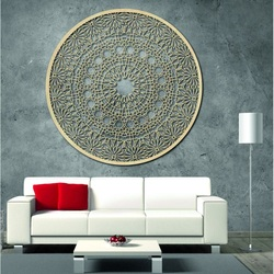 Carved wooden mandala on the wall - Passion