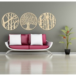 Stylesa - 3 piece painting on the wall YOSED