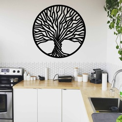 Stylesa - Wooden painting on a tree wall