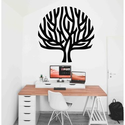 Stylesa - Modern wooden painting on a tree wall wind in the branches