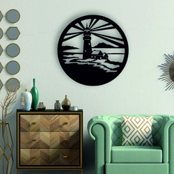 Sentop - Lighthouse modern painting on the wall - wooden decoration