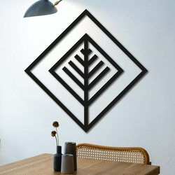 Modern painting on the wall - wooden decoration square ATALY | SENTOP