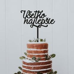 "Plastic topper - cake decoration ""Happy birthday"" - Size 138 x 180 mm"