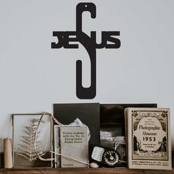 Wooden Cross Decoration - Jesus, size-250x180 mm