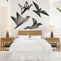 Modern painting on the wall - free birds 4 pcs - LIBERDADE | SENTOP
