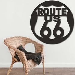 Wooden painting on the wall U.S. ROUTE 66 | SENTOP
