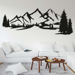 Wooden picture on the wall - MOUNTAINS MONTAS   SENTOP
