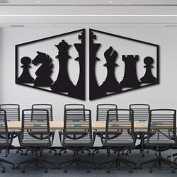 Elegantes Gemälde an der Wand einer Schachfigur - MIVAL | SENTOP