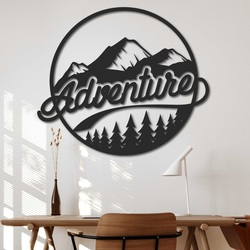 Wooden painting on the wall with a natural motif - ADVENTURE   SENTOP