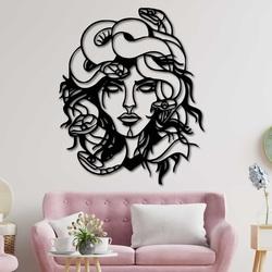 Magic wooden wall decor - MEDUSA GORGONA | SENTOP