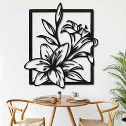 Laser cut wooden wall decor beautiful lily - INNOCENCE | SENTOP