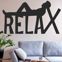 Holzgemälde an der Wand - RELAX  | SENTOP