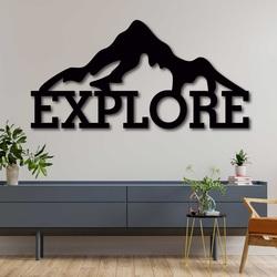 Laser cut wood wall decor - EXPLORE | SENTOP