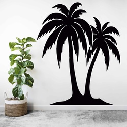 Carved painting on the wall of a palm tree - TROPICAL | SENTOP