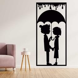 Romantisches Bild an der Wand eines Liebespaares - LIEBE | SENTOP