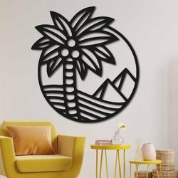 Wooden wall decor palm on the beach - MALLAWI | SENTOP