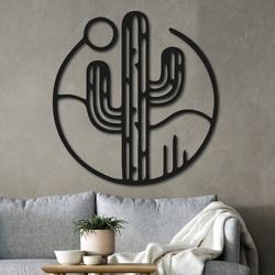 Wooden wall decor cactus with the sun - NIAMEY | SENTOP
