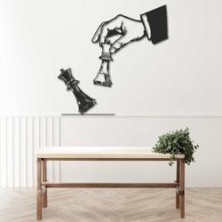 Elegant two-piece wall wooden decor chess design - CHESSMAT | SENTOP
