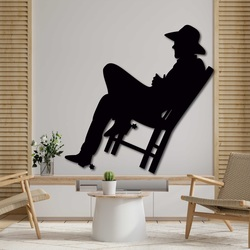 Elegant wooden picture on the wall - COWBOY | SENTOP