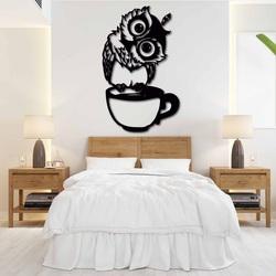 Cute wall decor owl in a cup - ROZALKA | SENTOP