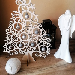 Wooden Christmas tree natural wood - 40 cm, 50 cm and 70 cm | SENTOP