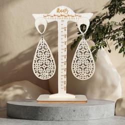 Wooden hanging earrings JULIEN - MONATY | SENTOP