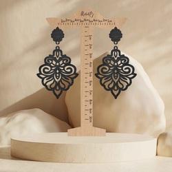 Monaty wood earrings Silente | SENTOP N009