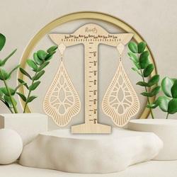 Wooden hanging earrings VALERY - MONATY | SENTOP