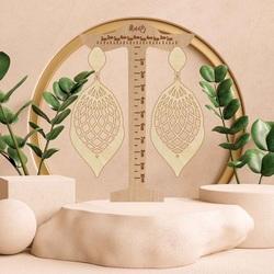 Wooden natural hanging earrings MELLIFLUOUS - MONATY | SENTOP