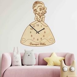 Wooden children's clock - Princess with a name | SENTOP PR0440