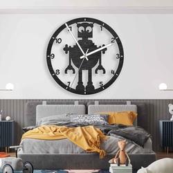 Wooden Clock Robot for Kids Black and Color | SENTOP PR0442