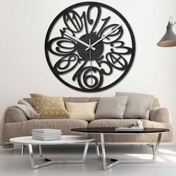 Wooden wall clock - Numbers - natural, black and colored | SENTOP PR0444