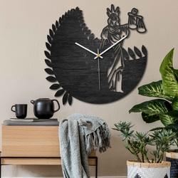 Clock zodiac sign - Libra - black and natural | SENTOP PR0447
