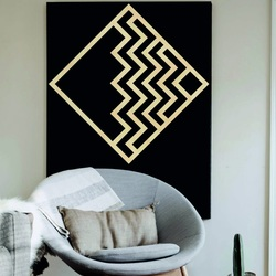 Modern painting on the wall - wooden decoration square FORNET | SENTOP