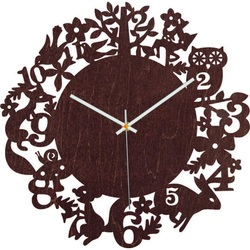 Wood watches - Forest animals - Black and colored | SENTOP PR0451