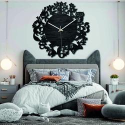 Zegarki drewniane - Zwierzęta leśne - Czarne i kolorowe | SENTOP PR0451
